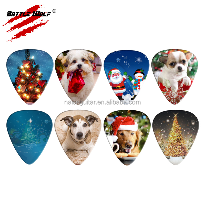 Printing Design Guitar Pick Christmas Party Giveaway