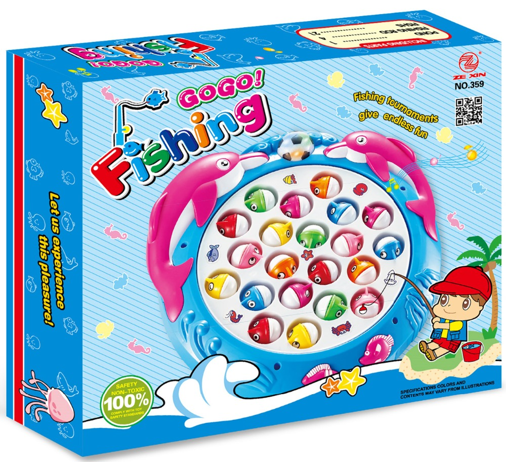 High performance cartoon battery operated fishing game for gifts
