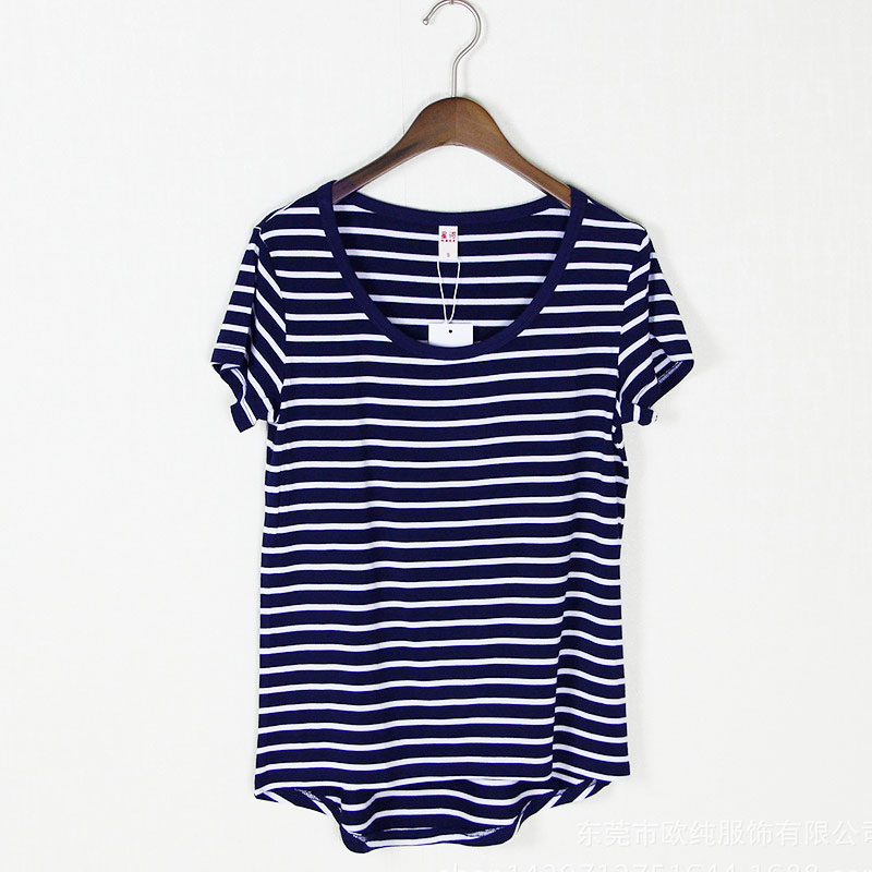 New fashion striped t shirt modal Korean t-shirt with short sleeves in summer T shirt