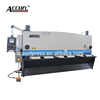 hydraulic guillotine shearing machine to cut stainless steel with CNC control system