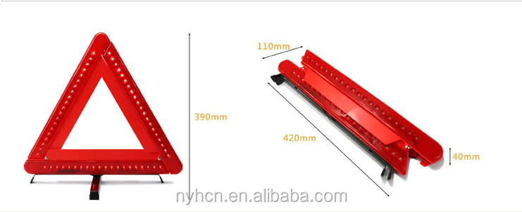 Hot Sale Excellent Quality Collapsible LED Lights Warning Triangle
