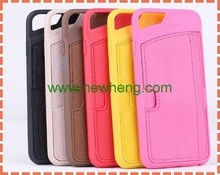 Fashion Wallet Card Holder Phone Pouch back Cover For Iphone6