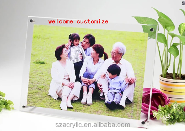 unique clear acrylic a4 paper photo size frame