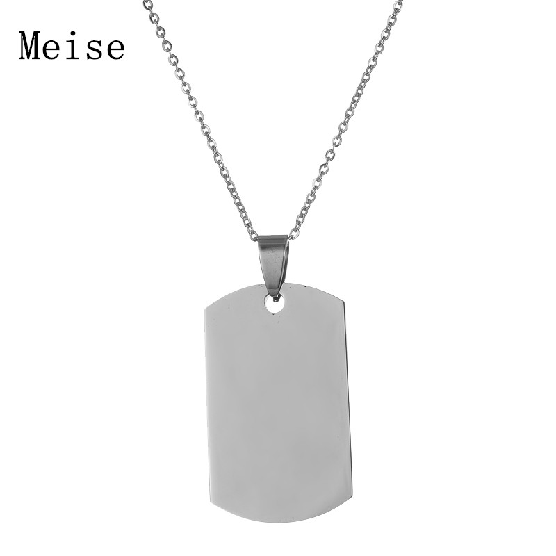 Yiwu Meise Lettering Necklace Military Brand Necklace Identity Brand Couples Custom Name Pendant Dog Tag