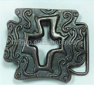 antiquecopper cross design western belt buckles with logo