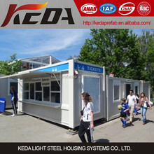 Events Service Station / Ticket Office Container Kiosk / Booth Outdoor