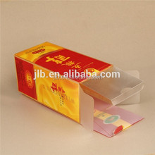 Printing packing plastic wine bottle box