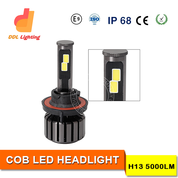 super bright 60w 5000lm cob led headlight conversion kit for jeep, cars, motorcycle