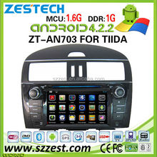 car gps for nissan tiida car gps navigator sylphy xtrail car mp3 player digital TV Android 4.2.2 system 3G ZT-AN703