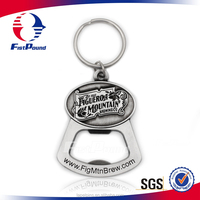 Bottle Opener Keychain With Antique Color Filling