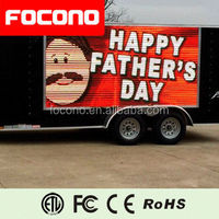 Truck Mobile Video Signs Digital Advertisement Outdoor 10mm led Display
