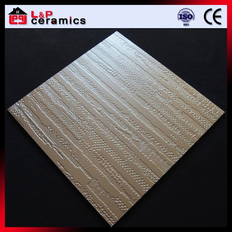 Silvery white strip 3D inkjet matte finished vitrified tiles