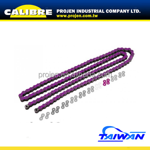CALIBRE Motorcycle Metallic Purple 420 pitch 130L Motorcycle Colored Chains Drive Chain