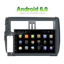 "KiriNavi WC-TP9010 9"" android 6.0 multimedia system for toyota prado car gps navigation system 2010 - 2013 Dashboard Placement"