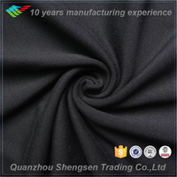 single jersey polyester knitted black soild cloth fabric