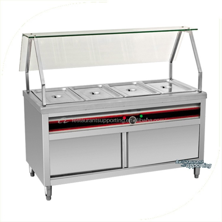 Restaurant commercial buffet chafing dish food warmer push for I kitchen equipment