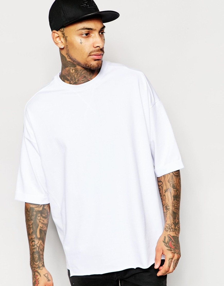 Men Garments Heavy Cotton T Shirts White Plain T-shirts Cheap ...