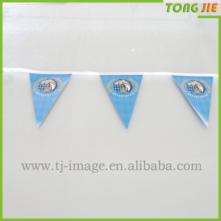 Eco-friendly Bunting Flag Promotion Printed PE/PVC/Paper Customized Pennant String Flag