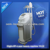 3 handles IPL+laser hair removal machine with rf accessories