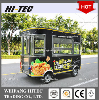 Elegant Edition Environmental Protected Electric Drive Mobile Food Cart For Multifunctions