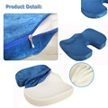 Factory price ergonomic design U shape foam folding seat cushion