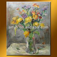 Abstract Flower Oil Painting Home Decor India
