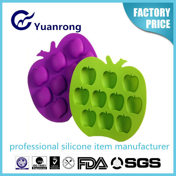 Apple Shape 100% Food Grade Silicone Ice Cube Tray