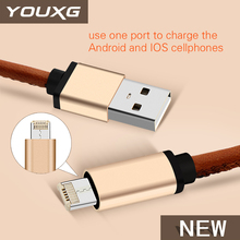 Hot selling 2 in 1 usb cable fast charging for Android/IOS