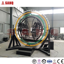 New Arrival !!! Outdoor amusement ride 3d human gyroscope for sale