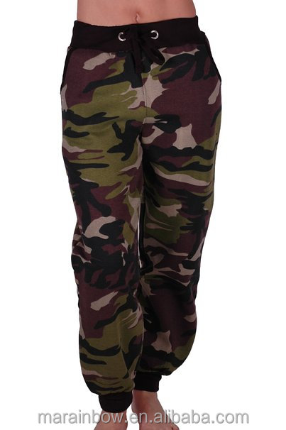 Fashion Design Womens Camouflage Print Jogger Pants Loose Fit Casual Joggers Custom Camo Jogger Pants