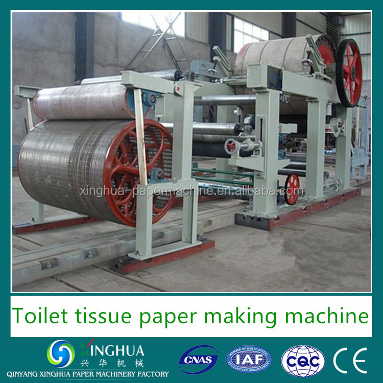 High quality soft toilet tissue paper making machinery for whole paper production line