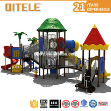 China PVC Plastic Outdoor Playground Equipment With Galvanized Pipe