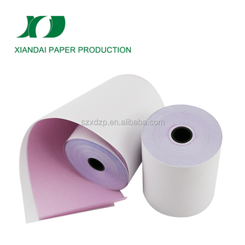 high quality blue ink 2 ply carbonless copy paper roll