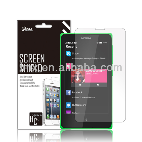 Factory supply high scratch resistant safeguard clear screen protector wholesale with high quality and great price for Nokia X2