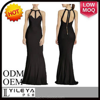 2015 black sexy maxi arabic evening dresses dubi for women