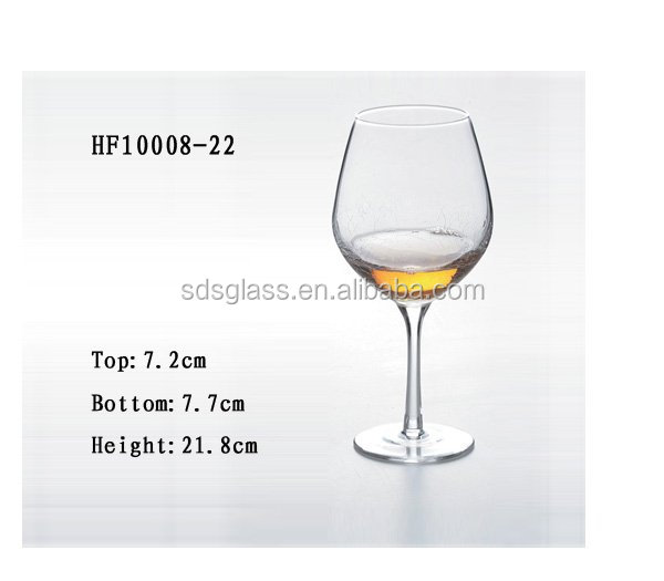 Stemware cheap thin glass cup black blue fancy wine glass cup