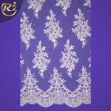 LF-280 Churidar Neck Designs Image Crochet Handwork Embroidery With Pearls Beaded Tulle Polyester Lace Fabric