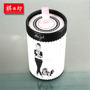China Market fashion design round cardboard white gift box