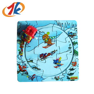 Custom Promotion toy mini wind up car with puzzle