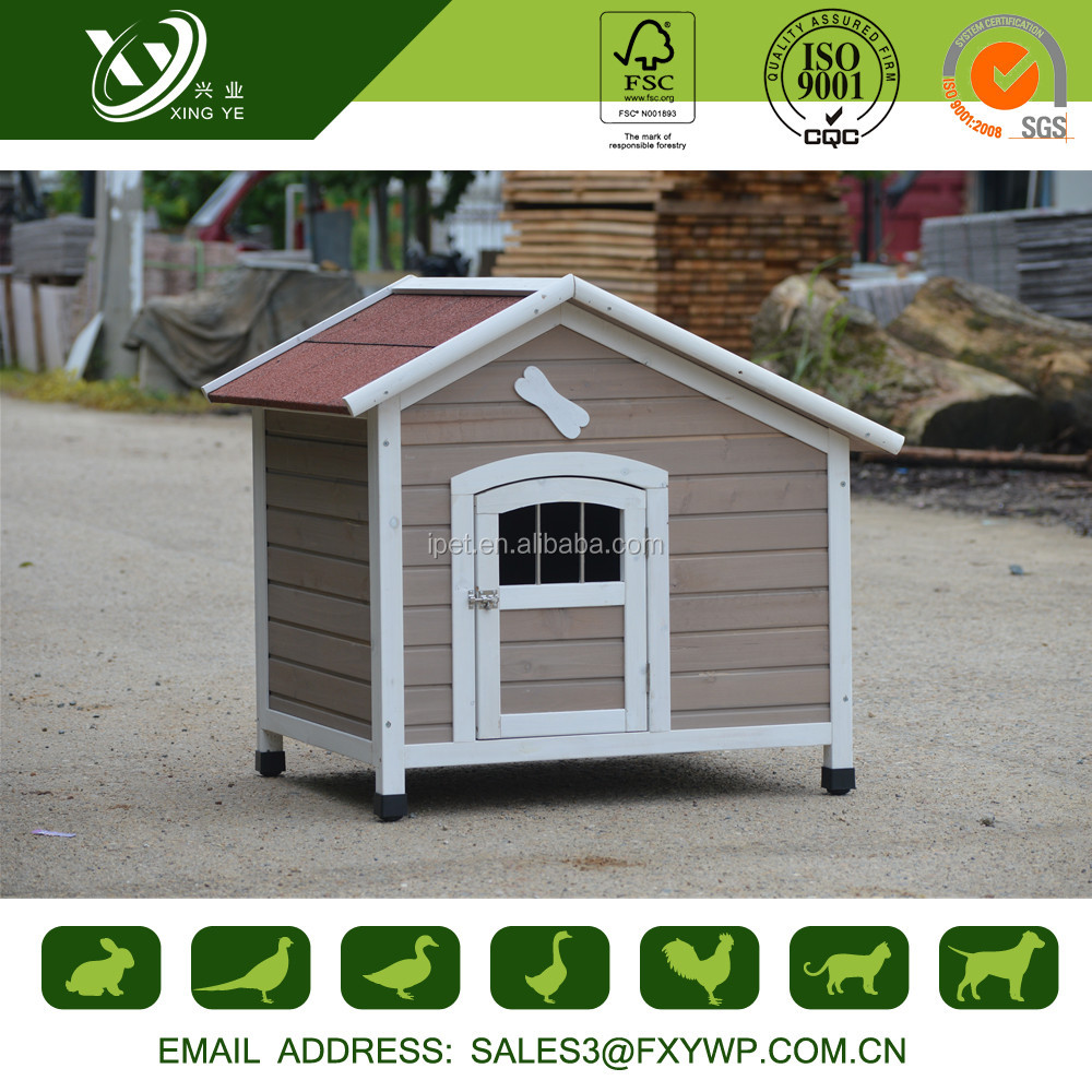 Europe Style Dog House Indoor With Red Asphalt Roof