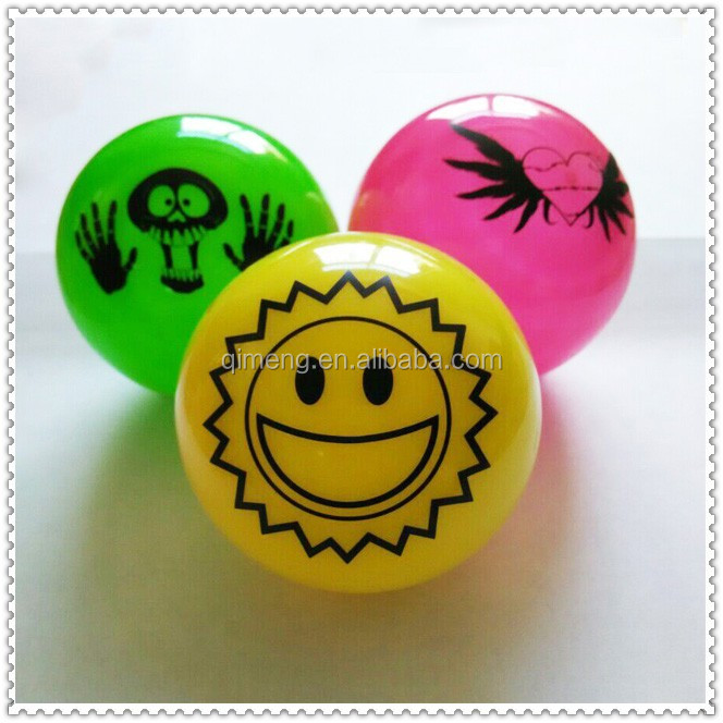 glow in the dark printed bouncing ball