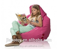 Salon chair lazy boy bean L shape sofa chair, pink beanbag with side pocket kids Animal shaped bean bag for kids