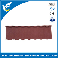 Building material colorful stone coated metal roofing tile