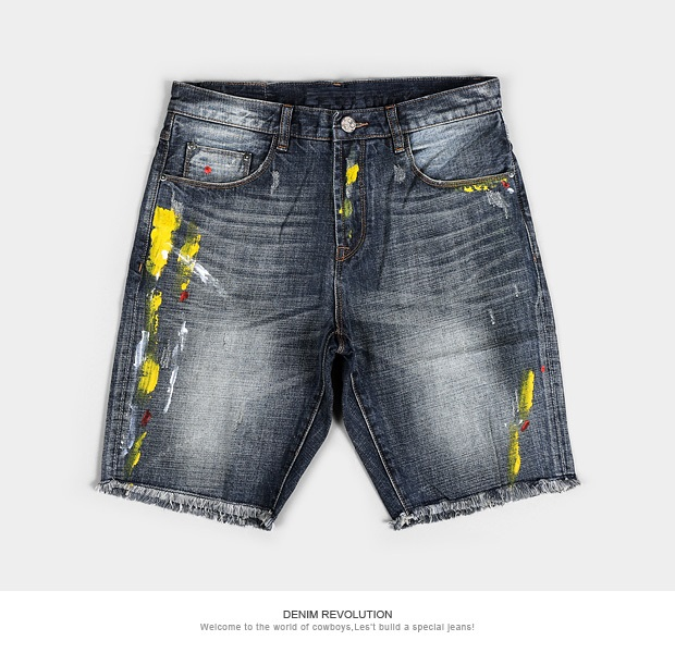 Men's woven denim short jeans