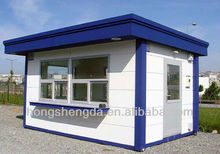 easy to install prefab steel frame modular kiosk / office / hotel