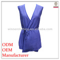 2014 newly and superior quality fashion deep v neck sleeveless sexy down blouse