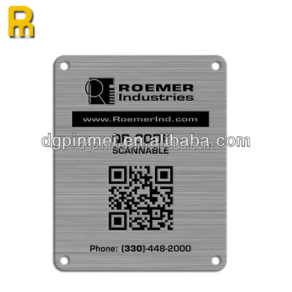 Hot!!! 2014 new technology- photo etching stainless steel qr code sticker