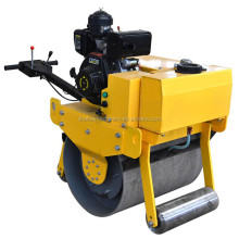 Small single drum vibration walk behind easy start Gasoline handheld small road roller