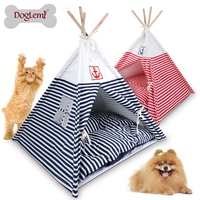 Indian Foldable woden cat house Pet Tent Dog Cat Kennel Nest Wood Pet Puppy Igloo House