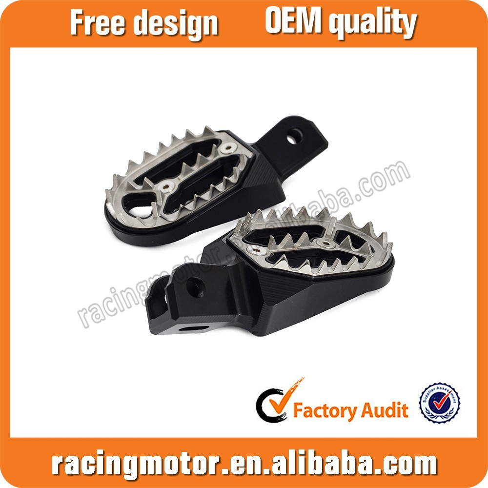 CNC MX Wide Foot Pegs Footrests For Honda CRF230L All Years 2008 2009 2010 2011 2012